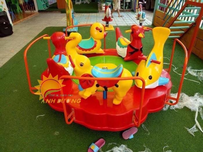 Đồ chơi mâm xoay trẻ em cho trường mầm non, công viên, KVC, sâ chơi