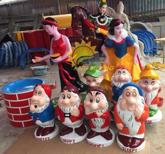 Cung cấp tượng vườn cổ tích trẻ em cho trường mầm non, khu vui chơi, sân chơi4