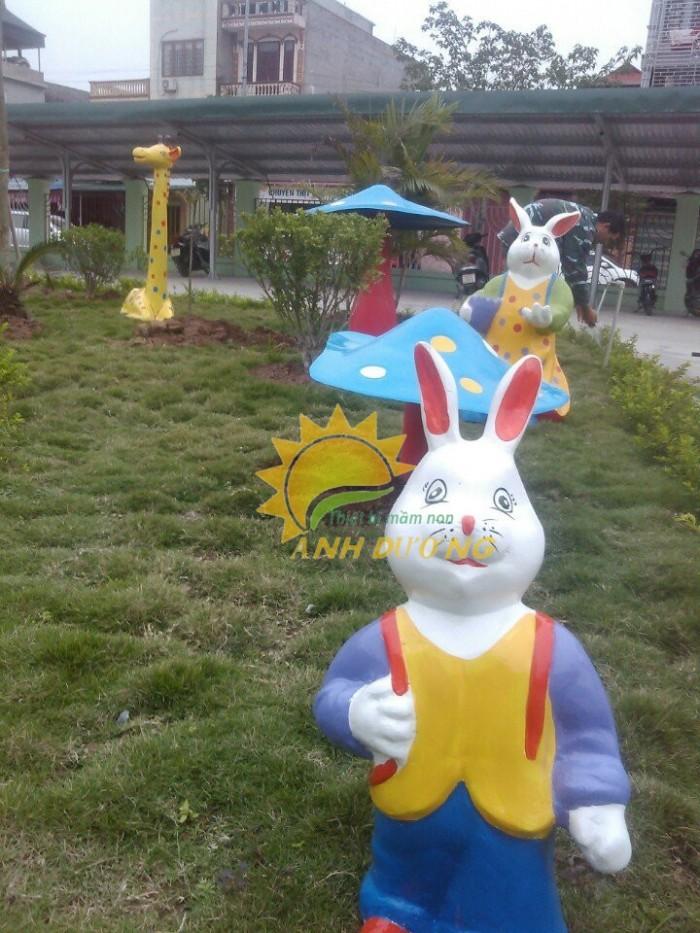 Cung cấp tượng vườn cổ tích trẻ em cho trường mầm non, khu vui chơi, sân chơi12