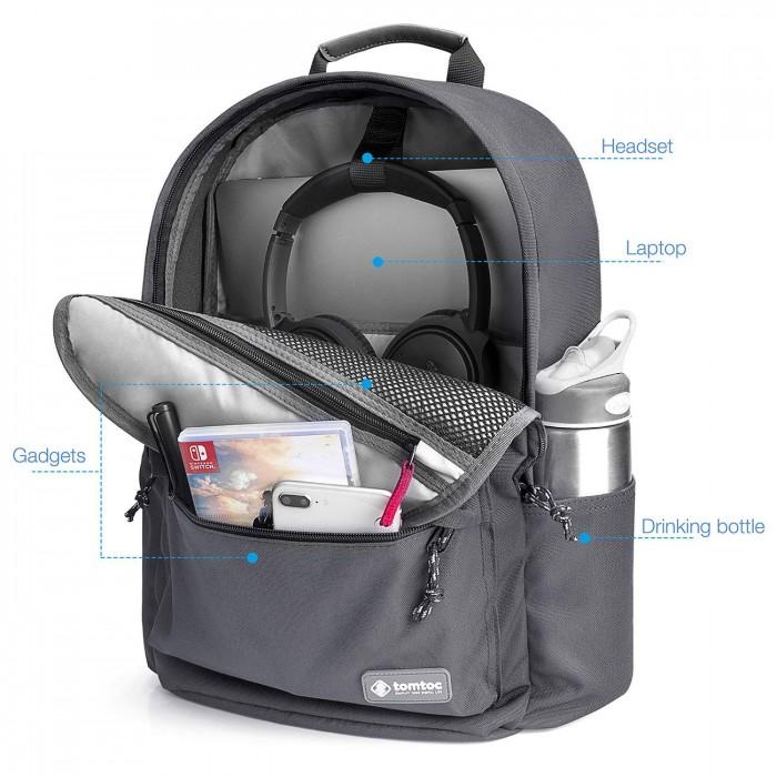 Balo Tomtoc (USA) Unisex Travel Macbook 15 Gray A71 (E01G01) - MSN181563