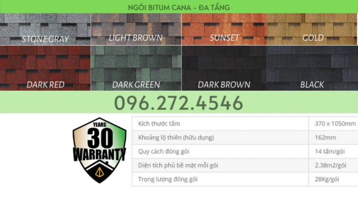 Ngói bitum phủ đá - Cana Đa Tầng - số 1 Hàn Quốc6