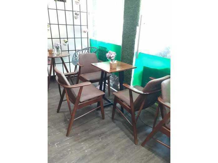 Ghế gỗ cafe trà sữa đẹp giá rẻ ghế Kami0