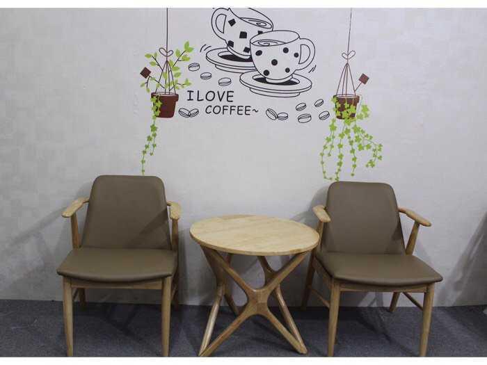 Ghế gỗ cafe trà sữa đẹp giá rẻ ghế Kami1