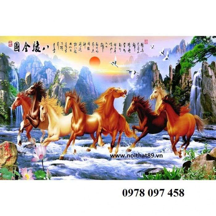 Tranh ngựa - tranh gạch 3D3