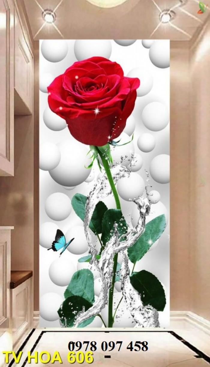 Tranh hoa 3D - tranh gạch3