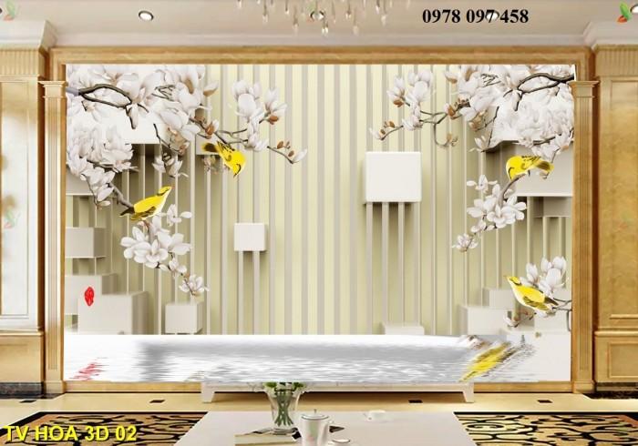 Tranh hoa 3D - tranh gạch0