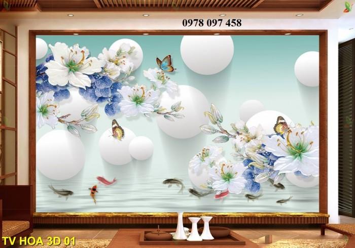Tranh hoa 3D - tranh gạch1
