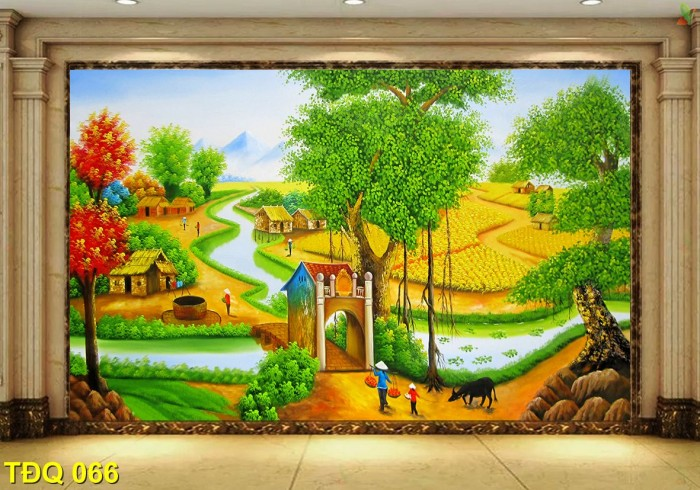 Tranh phong cảnh - tranh gạch quê hương0
