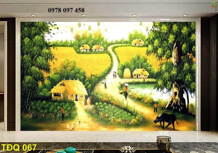 Tranh phong cảnh - tranh gạch quê hương3