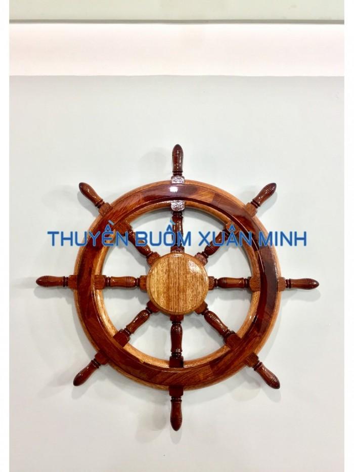 Vô Lăng Tàu Gỗ (Bánh Lái Tàu) Trang Trí | Gỗ Cẩm Lai | Đường Kính 60cm4