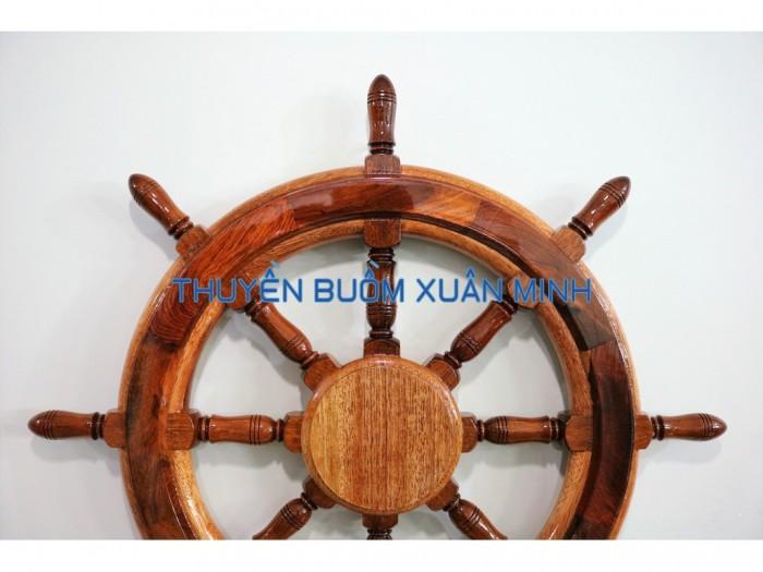 Vô Lăng Tàu Gỗ (Bánh Lái Tàu) Trang Trí | Gỗ Cẩm Lai | Đường Kính 60cm3