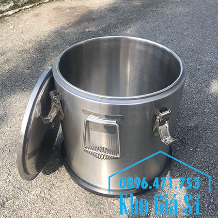 Thùng/ Nồi inox vận chuyển đồ ăn, thùng cách nhiệt, giữ nhiệt vận chuyển nước lèo, nước phở tại Nha Trang16