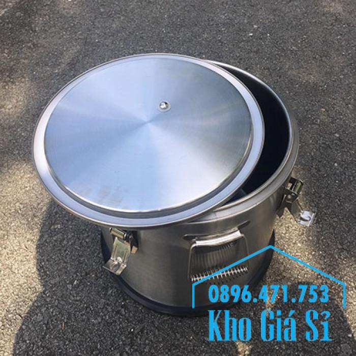 Thùng/ Nồi inox vận chuyển đồ ăn, thùng cách nhiệt, giữ nhiệt vận chuyển nước lèo, nước phở tại Nha Trang21
