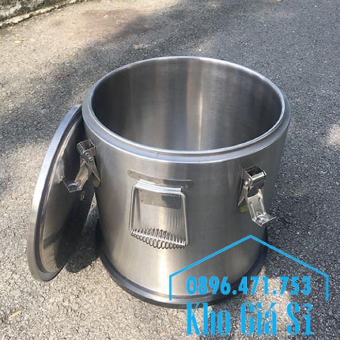 Giá rẻ thùng/ nồi inox giữ nhiệt 2 lớp vận chuyển đồ ăn, vận chuyển nước lèo, nước phở tại Tân Bình7