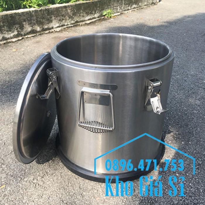 Giá rẻ thùng/ nồi inox giữ nhiệt 2 lớp vận chuyển đồ ăn, vận chuyển nước lèo, nước phở tại Tân Bình8