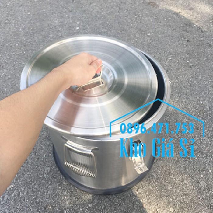 Giá rẻ thùng/ nồi inox giữ nhiệt 2 lớp vận chuyển đồ ăn, vận chuyển nước lèo, nước phở tại Tân Bình13