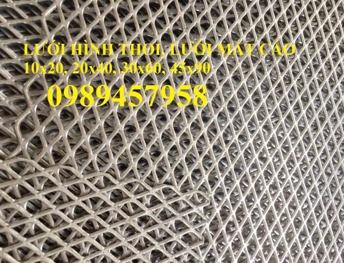 Lưới thép trang trí hàng rào, Lưới hình thoi, Lưới mắt cáo 20x40, 30x60 x 3ly8