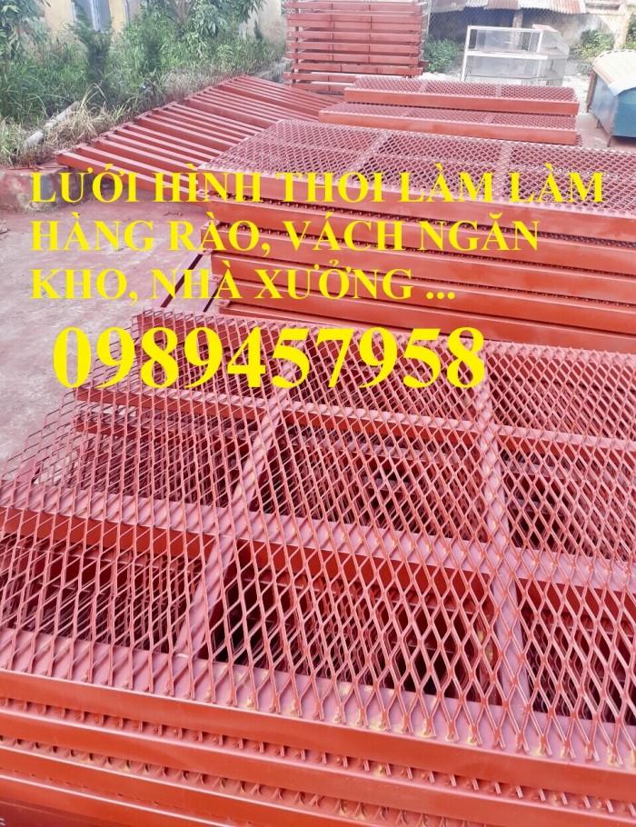 Lưới thép trang trí hàng rào, Lưới hình thoi, Lưới mắt cáo 20x40, 30x60 x 3ly9
