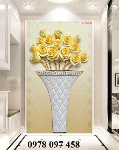 Tranh gạch men 3D - tranh bình hoa2