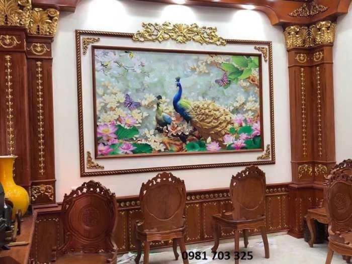 Tranh ốp tường - tranh chim công3