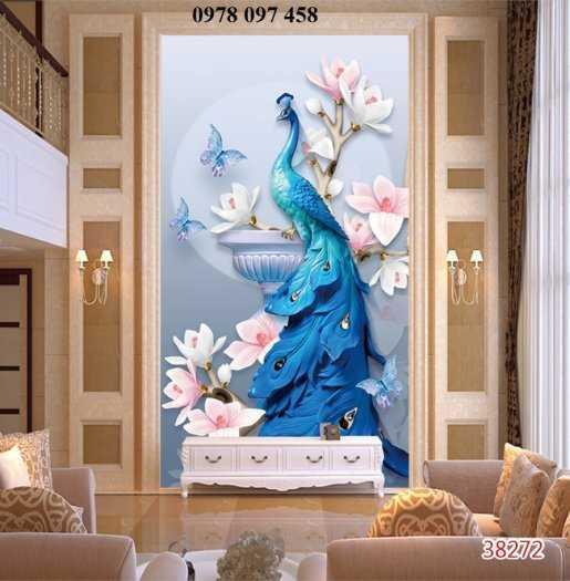 Tranh ốp tường - tranh chim công0