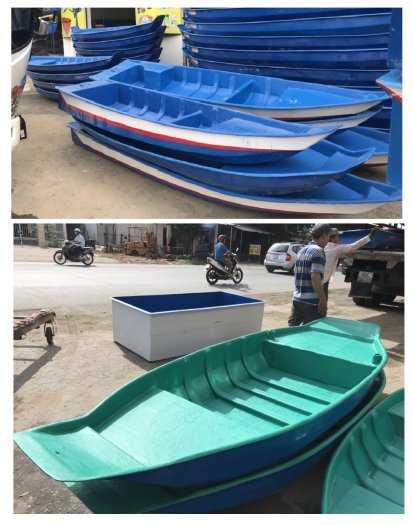 Thuyền nhựa 3m, Thuyền composite 2,4m 3m, 3,5m 4m, 4,6m 5m - Thuyền chèo tay0