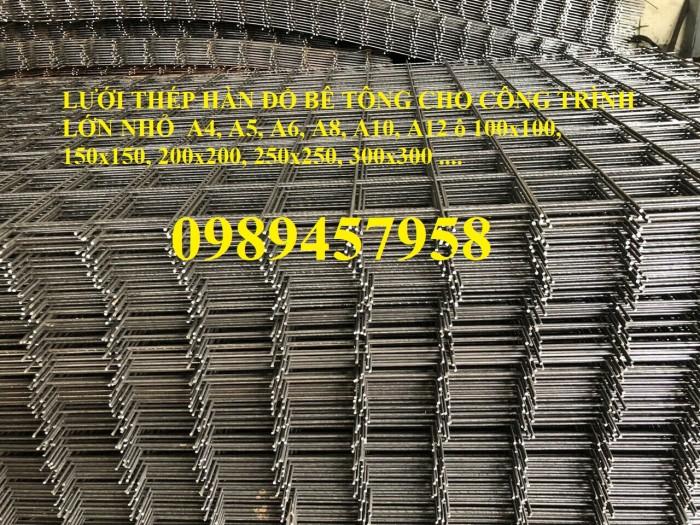 Cung cấp Sắt thép đổ bê tông, Thép phi 6 200*200, Lưới hàn chập phi 8 a 200*2006
