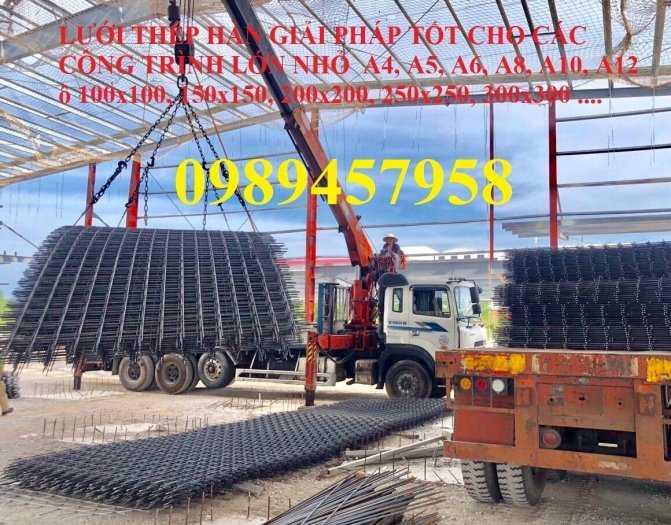 Lưới thép chống thấm Phi 3, phi 4 ô 200x200 và 250x250 - Lưới thép hàn phi 5, Phi 6, Phi 85