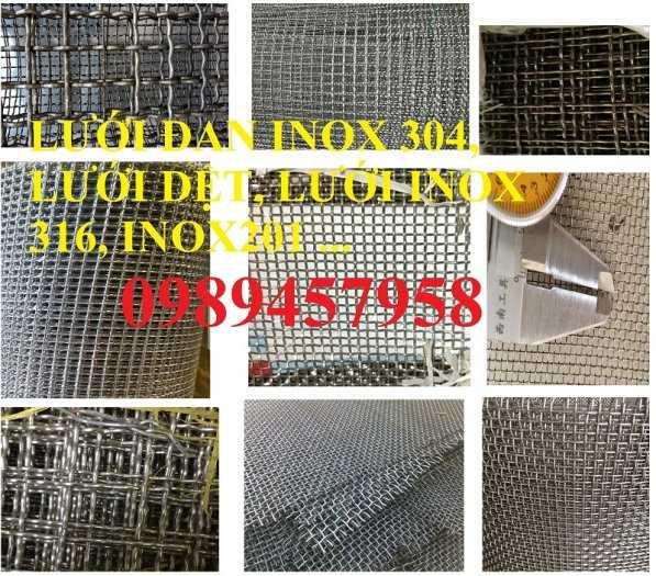 Lưới Inox đan ô 3x3, 5x5, 10x10, 12x12, 20x20, 30x30, 50x50 INOX 304, Inox 201, Inox 3160