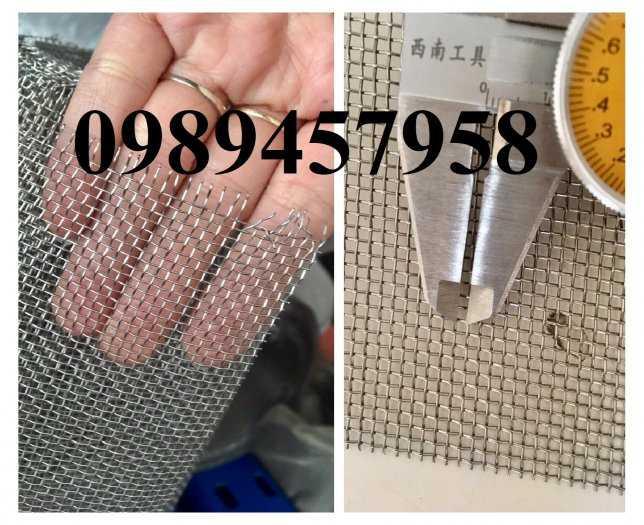 Lưới Inox đan ô 3x3, 5x5, 10x10, 12x12, 20x20, 30x30, 50x50 INOX 304, Inox 201, Inox 3164