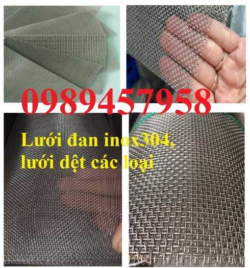Lưới Inox đan ô 3x3, 5x5, 10x10, 12x12, 20x20, 30x30, 50x50 INOX 304, Inox 201, Inox 3166