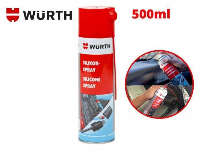 Dung Dịch silicone bôi trơn phục hồi nhựa cao su bảo vệ mạch điện Wurth Silicone 0893221 500ml5