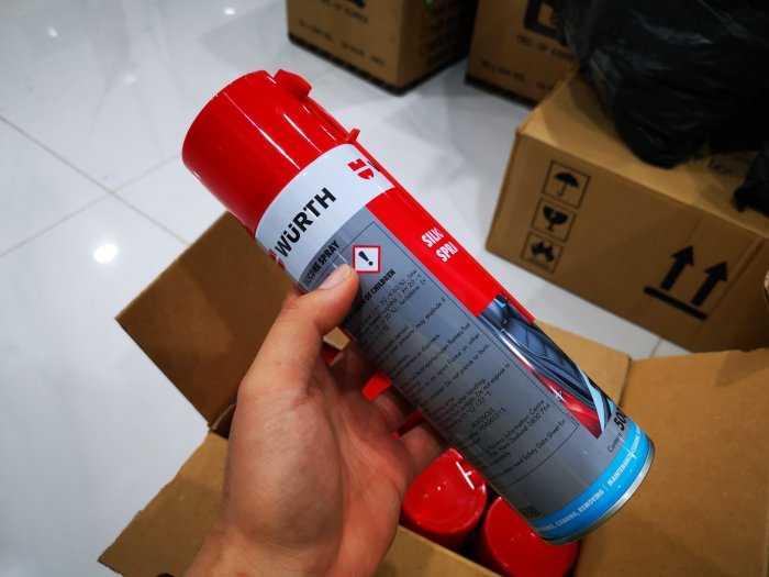 Dung Dịch silicone bôi trơn phục hồi nhựa cao su bảo vệ mạch điện Wurth Silicone 0893221 500ml1