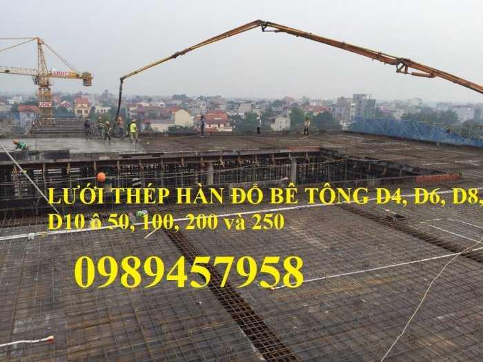 Sản xuất lưới thép hàn Phi 8 ô 200x200, A8 a 200x200, D8 a 200x200, Lưới đổ bê tông phi 82