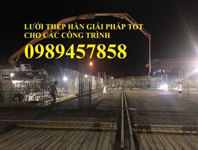 Sản xuất lưới thép hàn Phi 8 ô 200x200, A8 a 200x200, D8 a 200x200, Lưới đổ bê tông phi 83