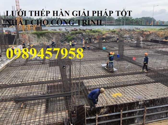 Lưới thép hàn phi 12 ô 200x200, 250x250, A12 a 200x200 Lưới thép hàn chập D122