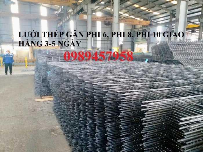 Lưới thép Phi 10 ô 100x100, 100x200, 200x200, 250x250, Lưới hàn đổ sàn phi 12 a 200x2006