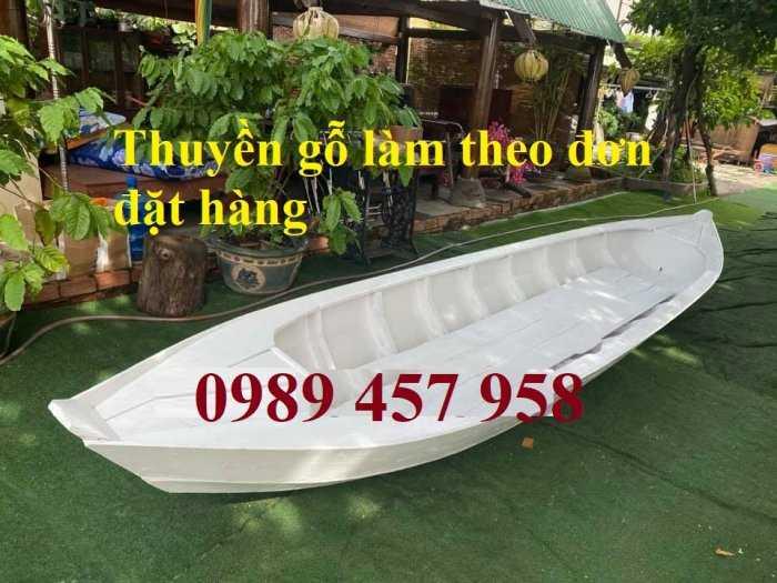 Thuyền gỗ trang trí nhà hàng, Thuyền gỗ bày hải sản, Thuyền chụp ảnh9
