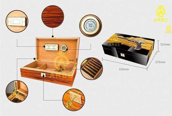 Hộp bảo quản cigar 100 điếu cao cấp chính hãng Lubinski YJA600142