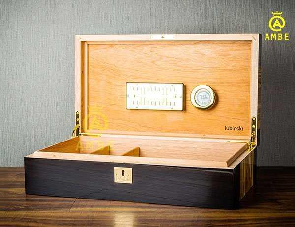 Hộp bảo quản cigar 100 điếu cao cấp chính hãng Lubinski YJA600148