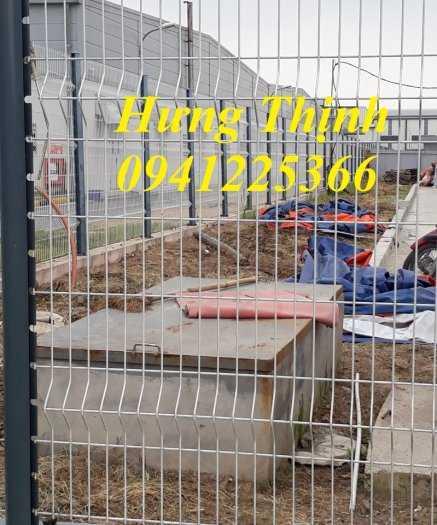 Hàng rào gập đầu mạ kẽm nhúng nóng D5a50x2005