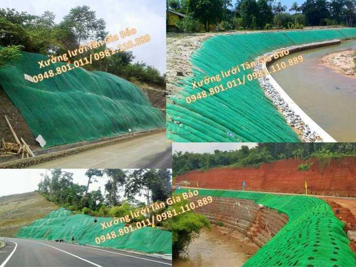 Lưới hỗ trợ chắn xỉ than, chắn núi lở, lưới chắn cát sạt lở, lưới chống cát lở trên bảo vệ mái taluy0