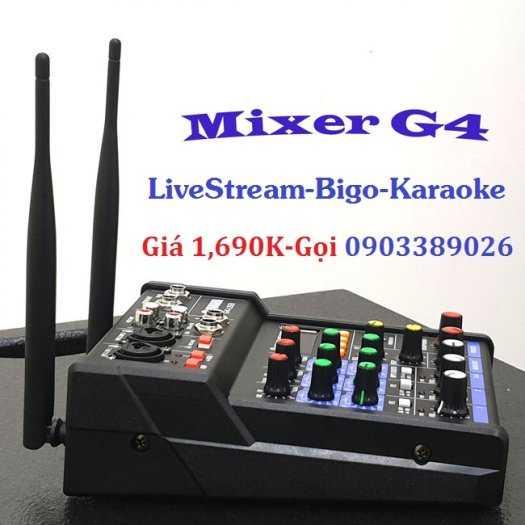 Mixer+Micro không dây Yamaha G4-USB chuyên Livestream, Karaoke0