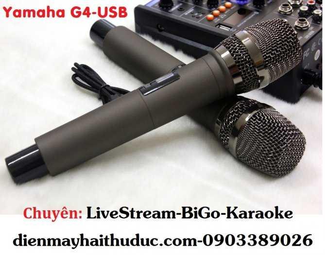 Mixer+Micro không dây Yamaha G4-USB chuyên Livestream, Karaoke3