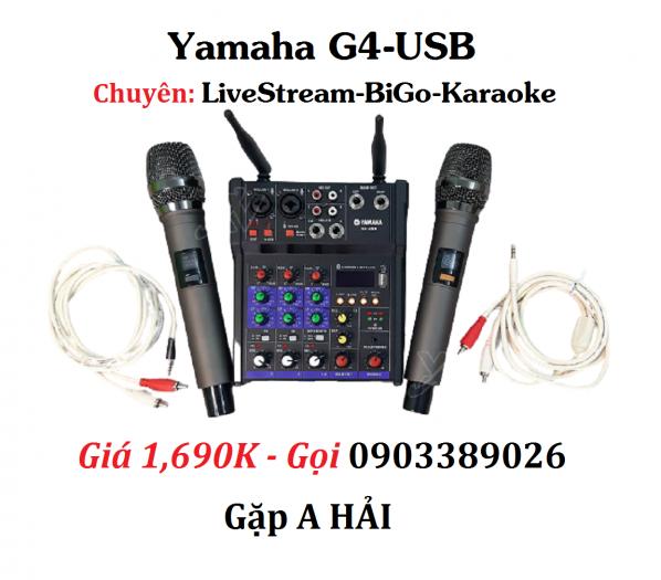 Mixer+Micro không dây Yamaha G4-USB chuyên Livestream, Karaoke2