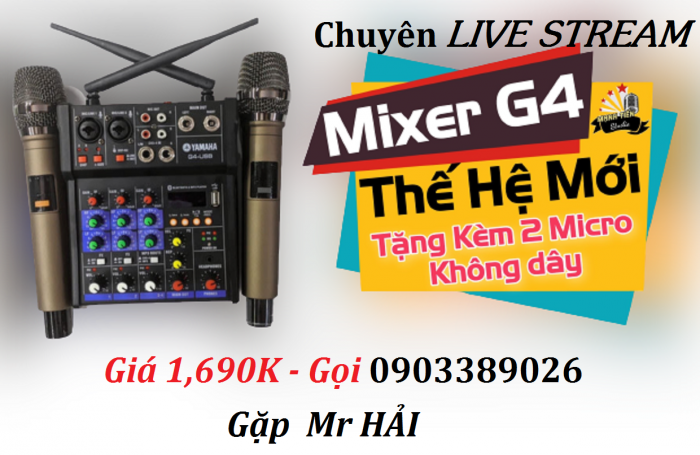 Mixer+Micro không dây Yamaha G4-USB chuyên Livestream, Karaoke5