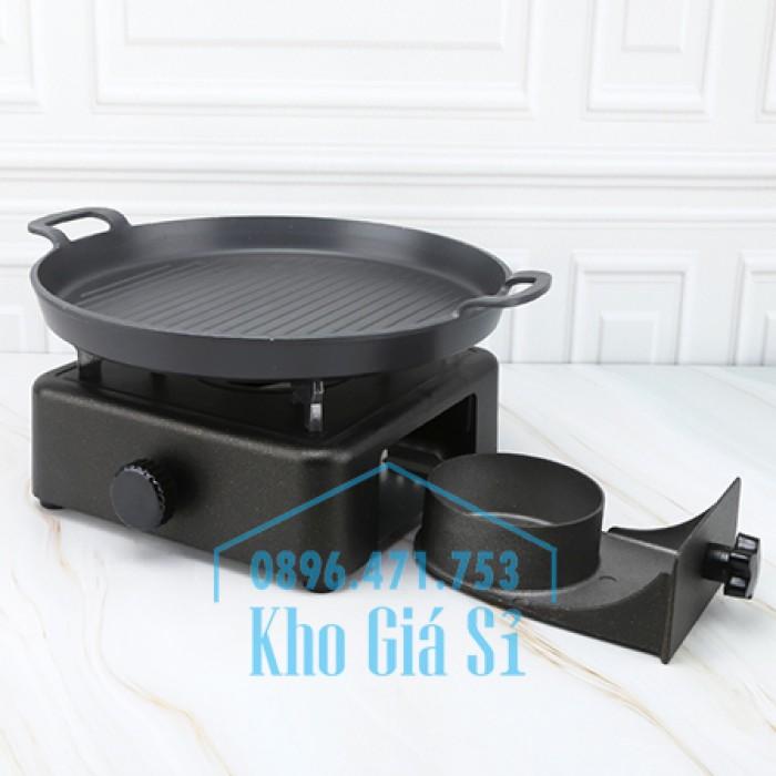 Bếp cồn gang nấu lẩu hình vuông cao cấp - bếp cồn bằng gang nấu tiệc đám cưới, kinh doanh nhà hàng quán ăn HCM22