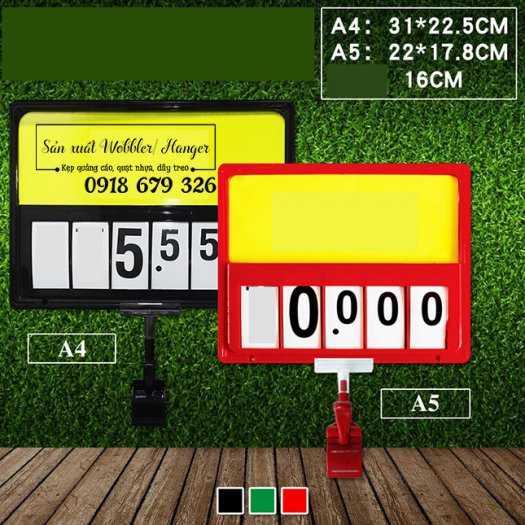 Bảng số lật, bảng giá lật, khung bảng số lật siêu thị4