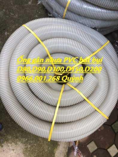 Ống ruột gà hút bụi, ống gân nhựa hút bụi mầu xám D114,D125,D150,D168,D2002