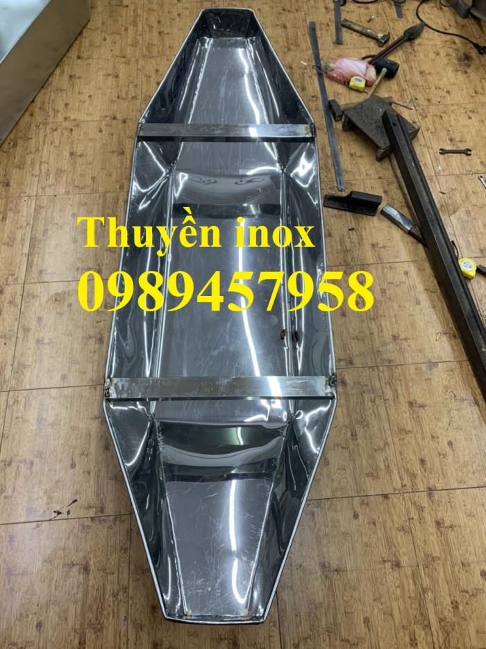 Thuyền tôn câu cá cho 2-3 người, thuyền inox chèo tay cho 3-4 người giá rẻ nhất8